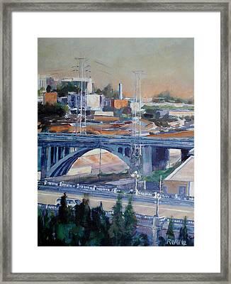 Broadway Bridge Framed Print by Richard  Willson