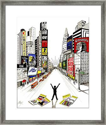 Broadway Dreamin' Framed Print