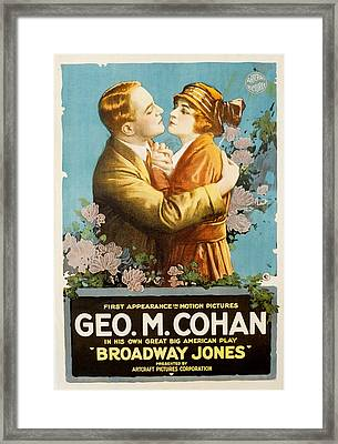 Broadway Jones, George M. Cohan Framed Print by Everett