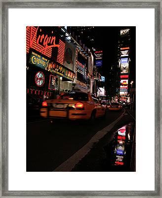 Broadway Lights Framed Print by Karol Livote