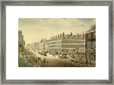 Broadway, New York Framed Print by John Hill