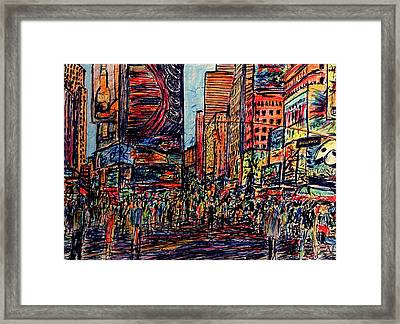 Broadway, New York  Framed Print