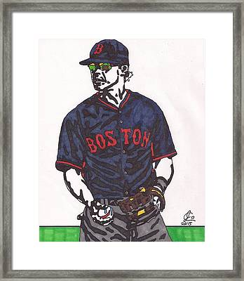 Brock Holt 1 Framed Print by Jeremiah Colley