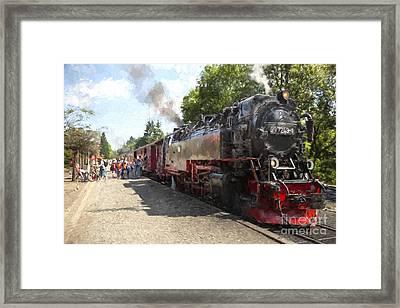 Brockenbahn Framed Print by Julie Woodhouse