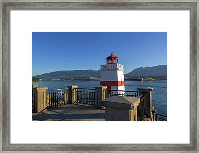 Brockton Point Lighthouse In Vancouver Bc Framed Print by David Gn