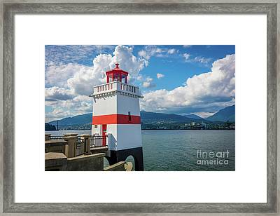 Brockton Point Lighthouse Framed Print by Inge Johnsson