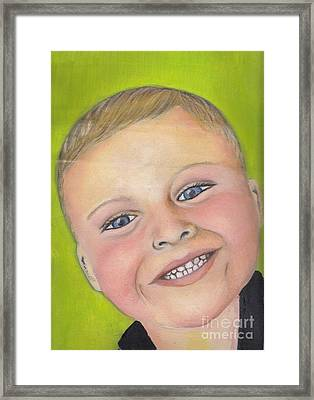 Brody's Smile Framed Print by Champion Chiang