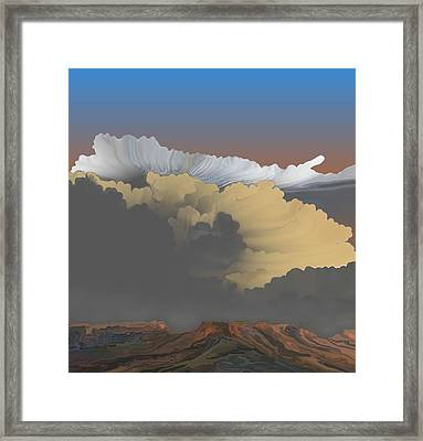 Framed Print featuring the digital art Brokeback Hills by Kerry Beverly
