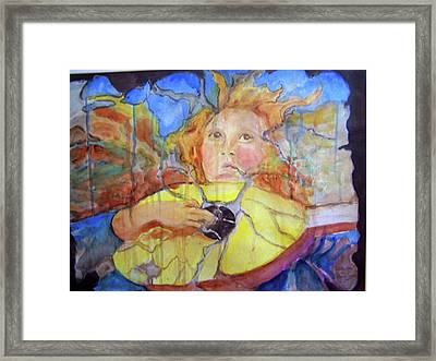 Framed Print featuring the painting Broken Angel by P Maure Bausch