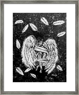 Framed Print featuring the painting Broken Angel by Teresa Wing