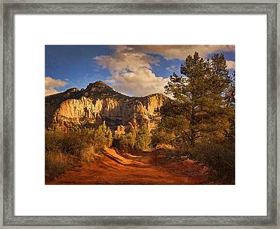Broken Arrow Trail Pnt Framed Print