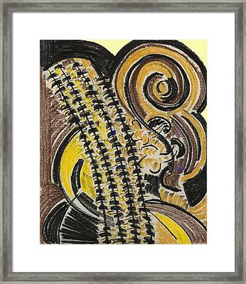 Broken Bass Dyptic 1 Framed Print by Diallo House