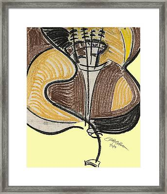 Broken Bass Dyptic 2 Framed Print by Diallo House