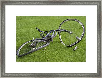 Broken Bicycle Framed Print