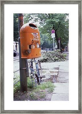 Broken Bike In Berlin Framed Print