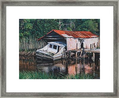 Broken Boat Framed Print