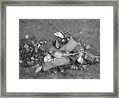 Broken Bottle Framed Print by Luke Cain