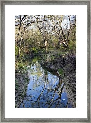 Broken Branch Creek Framed Print by Ricky Dean