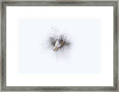 Broken Bulb Framed Print by Scott Norris