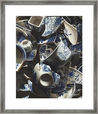 Broken China Framed Print by Larry Preston