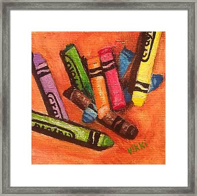 Broken Crayons Framed Print