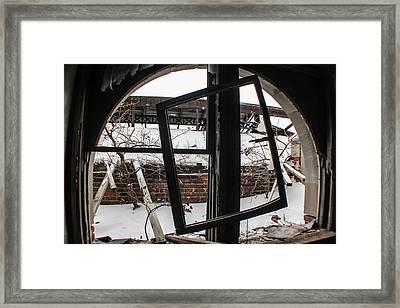 Broken Detroit Window  Framed Print