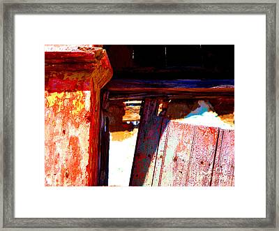 Broken Door By Michael Fitzpatrick Framed Print by Mexicolors Art Photography