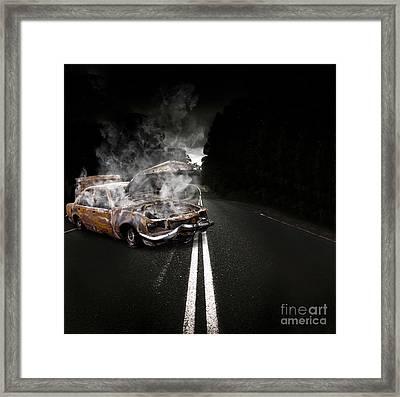 Broken Down Vehicle Framed Print by Jorgo Photography - Wall Art Gallery