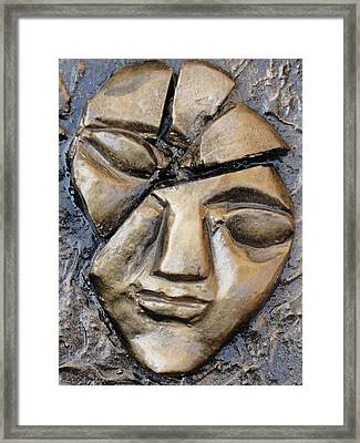 Broken Face Framed Print by Rajesh Chopra