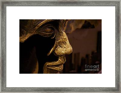 Broken Face Framed Print