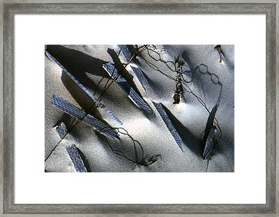 Framed Print featuring the photograph Broken Fences by Lori Miller