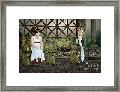 Broken Friendship Framed Print by Jutta Maria Pusl