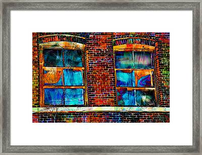 Broken Glass Framed Print