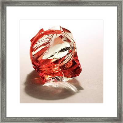 Broken Glass Framed Print