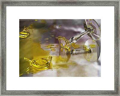 Framed Print featuring the photograph Broken Glass by Susan Capuano