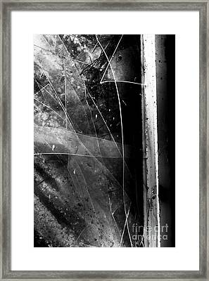Broken Glass Window Framed Print