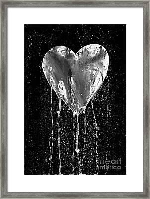 Broken Heart - Bleeding Heart Framed Print