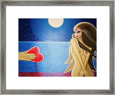 Broken Heart Framed Print by Janine Antulov
