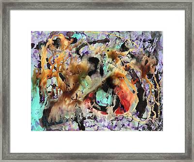 Broken Hearted Purple Crazy Man Blues Framed Print by James Douglas Draper
