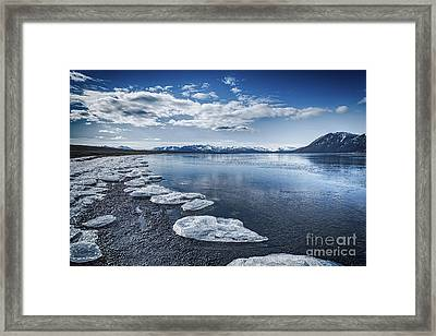 Broken Ice Framed Print by Svetlana Sewell