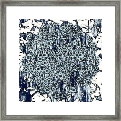 Broken In Blue Framed Print by Susan Leggett