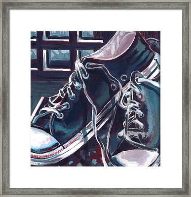 Broken-in Converse Framed Print