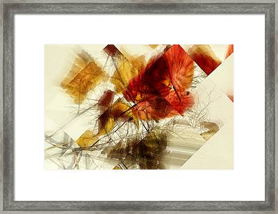 Broken Leaves Framed Print by Martine Affre Eisenlohr