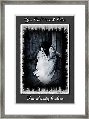 Broken Framed Print by Lisa Daughtry