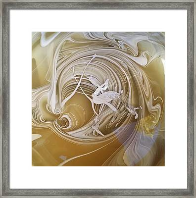 Broken Neck Flamingo Framed Print