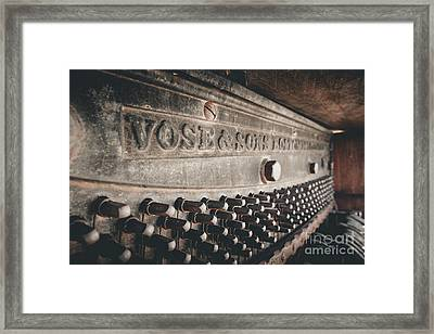 Broken Piano Framed Print