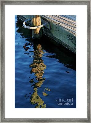 Broken Pier Framed Print by Angie Bechanan
