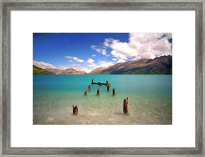 Broken Pier At Sea Framed Print by Photography By Anthony Ko