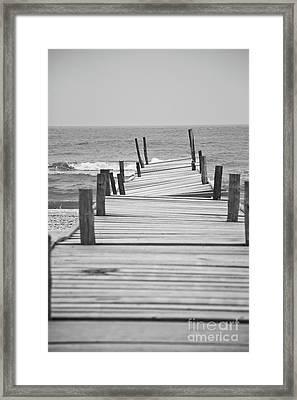 Broken Pier Framed Print by Gabriela Insuratelu
