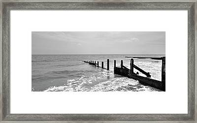 Broken Pier Framed Print